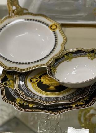 Набор фарфоровых тарелок 24 предметов😍