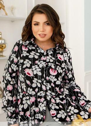 Елегантна блуза з ніжним принтом + безкоштовна доставка новою поштою