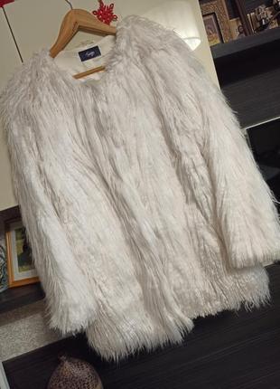 🔥uk 18 наш 50-52 шуба шубка меховое пальто меховая куртка marks & spencer🔥