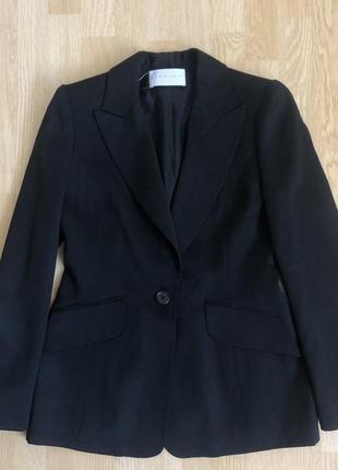 Carven paris чорный пиджак на одну пуговицу, размер 36/38/40