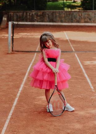Детское нарядное платье цвет малиновый молли