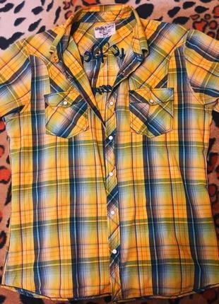 Рубашка с коротким рукавом burton, клетчатая
