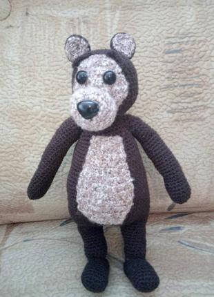 Вязанный мишка из маши и медведь