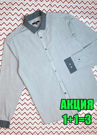 😉1+1=3 стильная мужская рубашка с длинным рукавом george, размер 48 - 50
