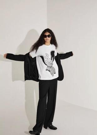 Белая котиковая футболка с дамбо zara