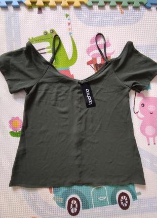 Сток маечка майка футболка с открытыми плечами