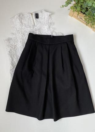 Чёрная юбка massimo dutti