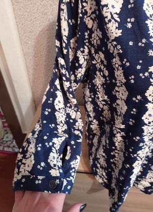 Кофточка 3/4 рукав в цветочный принт 14р футболка пуловер4 фото