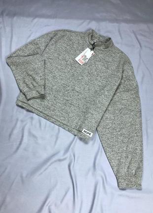 Свободный серый джемпер свитшот