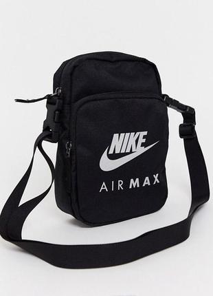 Сумка на плече nike air max месседжер барсетка унісекс оригінал heritage чорна ba5905-010