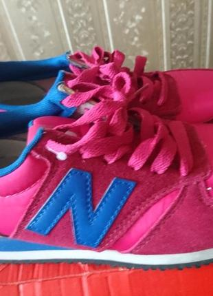 New balance новые 23.5см кожа замш кроссовки