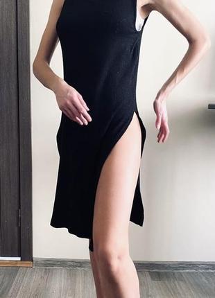 Платье туника платьице вязаное разрезы