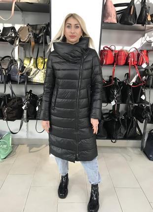 Пальто пуховик длинный куртка удлинённая с капюшоном🔥🔥🔥