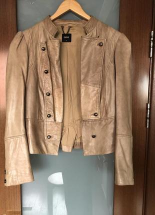Куртка из натуральной кожи в стиле винтаж косуха