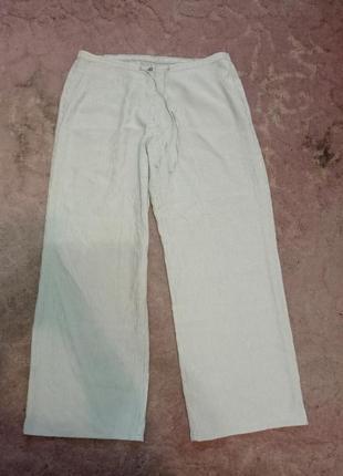 Лёгкие штаны бриджи в клеточку m&s батал большого размера