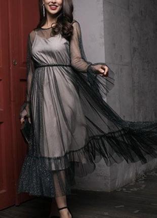 Нарядное миди платье от vovk