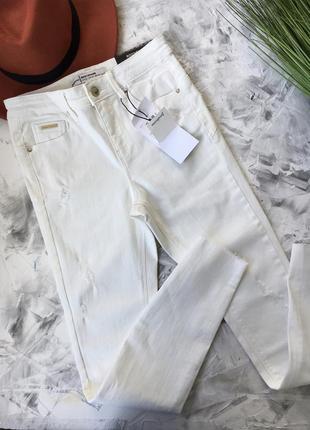 Джинси skinny білі 🤎