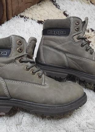 Демисезонные брендовые натуральные ботинки kappa 36,5-37 размер на 23,5-24 см