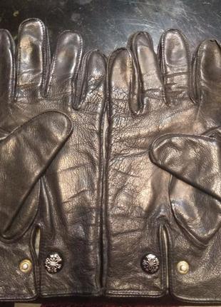 Перчатки теплые кожаные мужские