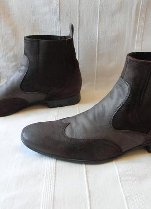 Murphy lloyd мужские кожаные полусапожки ботинки челси  р.9,5/44/44,5/ ст.31см