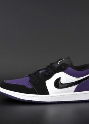 💜🖤🌼nike air jordan 1 retro low violet black white🌼🖤💜женские кроссовки найк