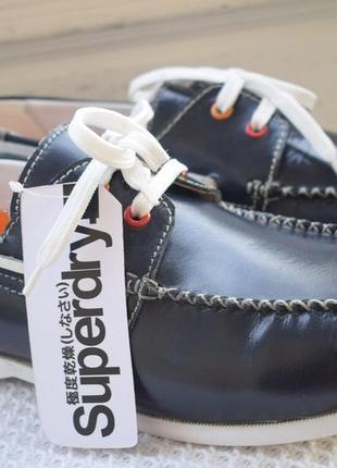 Кожаные туфли мокасины топсайдеры слипоны superdry р.43 28,5 см