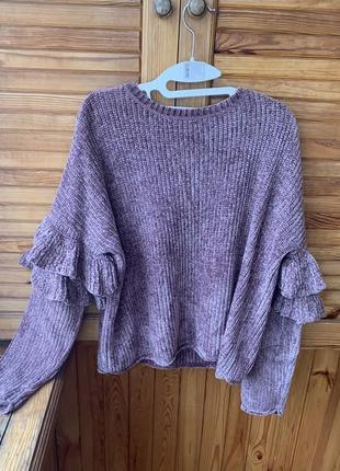 Супер мягонький свитер ,сиреневого цвета