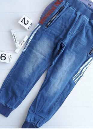 Брюки под джинс для мальчиков glass bear 116-146 р.р.{8071}
