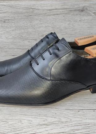 Moreschi 44p туфли мужские кожаные италия