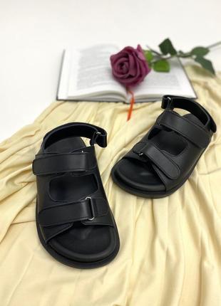 Женские кожаные босоножки сандали на липучке