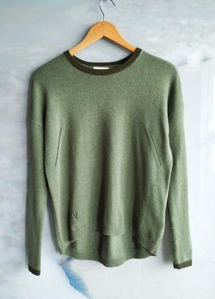 Стильный свитер зелёный шерсть кашемир noa noa дания