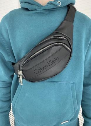 Новая качественная стильная сумка на пояс бананка через плечо  кожа pu / слинг / барсетка