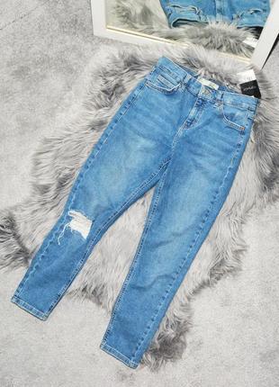 Новые голубые джинсы topshop