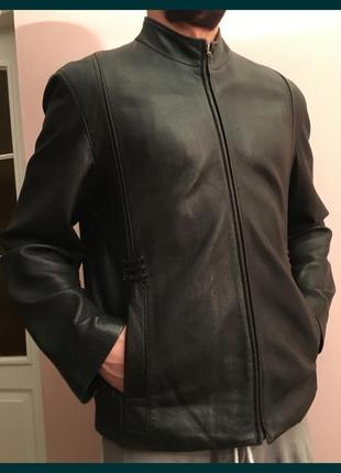 Курточка жакет кожаный