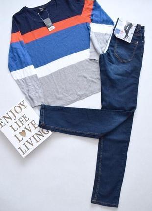 Темно-синие джинсы skinny из стрейч коттона esmara 10