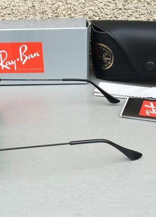 Ray ban aviator 58 очки капли солнцезащитные унисекс оранжевые зеркальные стекло3 фото