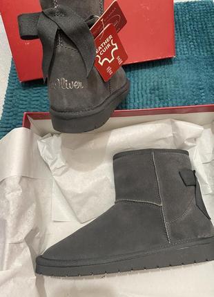 Кожаные ботинки угги s.oliver