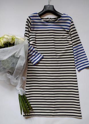Платье прямого кроя - трикотаж средней плотности