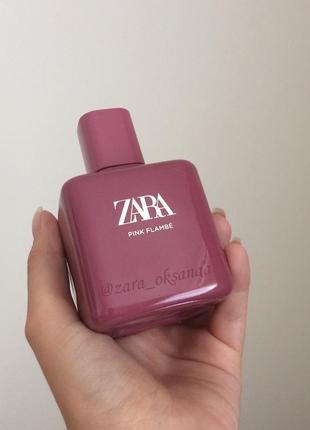 Zara pink flambé духи туалетна туалетная вода 100 мл