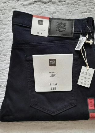 Джинсы мужские темно синие marks & spencer размер w36/l 31 slim