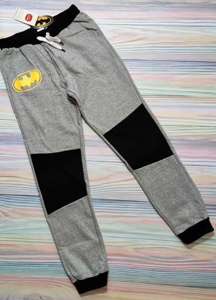 Серые спортивные штаны с batman cool club р. 158