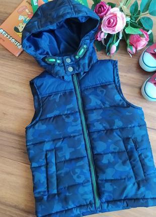 Теплая стеганая жилетка для прогулки palomino на 2-3 года