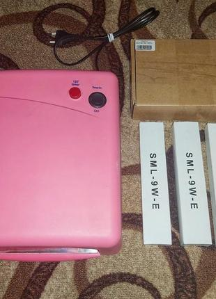 Ультрафиолетовая лампа для маникюра sk 818 розовая 36ввт