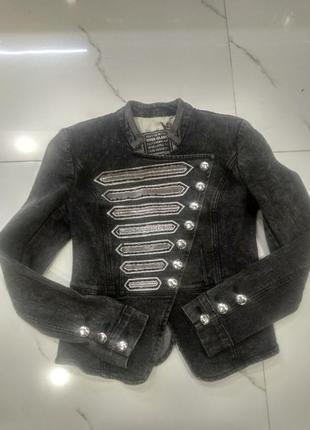 Пиджак в гусарском стиле из плотного тяжелого  джинса!