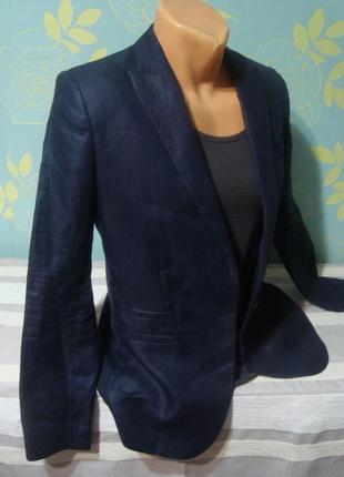 Пиджак из льна ,оригинальный  massimo dutti
