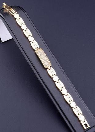 Браслет 'xuping' фианит 19 см. (позолота 18к) 0700370,