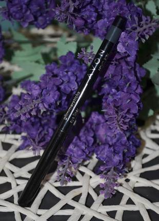 Механический контурный карандаш для глаз avon glimmerstick eyeliner saturn grey