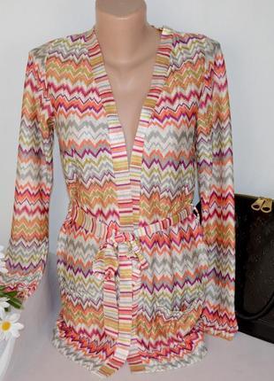 Яркий кардиган накидка с поясом и карманами new look молдова этикетка