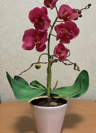 Орхидея статуэтка декор помещений орхидея фаленопсис искусственный