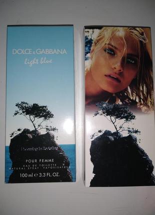 Женская туалетная вода dolce & gabbana light blue pour femme dreaming in portofino 100 мл